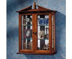 Diseño de Toscano BN1722 Amesbury Manor curiosidades armario de pared de madera, marrón