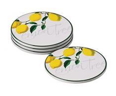 Premier Housewares - Posavasos (4 unidades), diseño de limonero