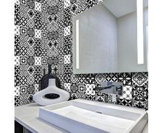 Ambiance-sticker Pegatinas de Azulejos Adhesivas - Adhesivo de Azulejos de Cemento - Decoración de Pared para baño y Cocina - 20 x 20 cm - 60 Unidades
