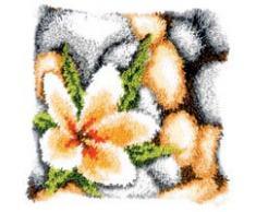 Vervaco - Cojín de gancho, diseño de flor, multicolor