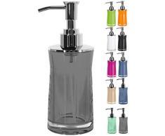 Spirella 18,5 x 7,0 x 7,0 cm, Gris colección Sydney, Dispensador de jabón líquido, Acrílico