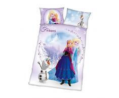 Herding 2679095063412 Frozen Disney Brave ropa de cama, funda de almohada, 40 x 60 cm y funda de edredón, 100 x 135 cm, franela/castor
