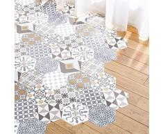 Ambiance Sticker Pegatina para suelo de azulejos de cemento con laminado de protección de plástico, resistente al agua, 40 x 90 cm, 10 unidades