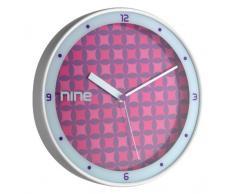 TFA Dostmann 98.1100 Star - Reloj de pared, color plateado y rosa