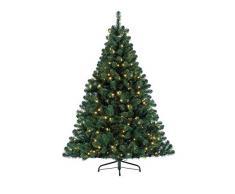 Kaemingk Lumineo 678250, Árbol de Navidad Pino Imperial con LED para Uso Interior, 150 cm, luz Blanca cálida (Verde), 150 cm