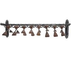 Kare Perchero de Pared Cosmopolitan (9 Piezas), Marrón, 21 x 33 x 75.5 cm, Acero, 33 x 75.5 x 21 cm