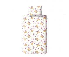 DILIOS Osito Juego de Cama Infantil con diseño de 2 Teilig 100 x 135, 100% algodón con Cremallera, Rosa