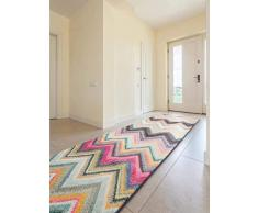 benuta Alfombra de Pasillo Casa Multicolor 70x 240cm | Moderna Alfombra para salón y Dormitorio