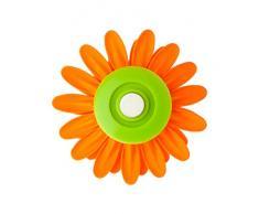 VIGAR Flower Power Pinzas con Iman para Cocina, Material: ABS, Goma, PPN, Imán: Acero, Aluminio, Boro, Naranja, 8 x 8 x 2.5 cm, 3 Unidades