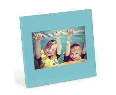 Umbra foto de reloj de pared con péndulo, 4 x 15,24 cm, Surf azul