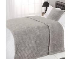 Dreamscene–Gofrera Suave visón Manta cálida Manta de sofá Cama, Gris, 125x 150cm