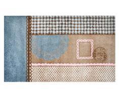 Alfombrilla LifeStyle 101069 Postal, felpudo antideslizante y lavable, ideal para la entrada, el armario o la cocina, 67 x 110 cm, marrón / rosa