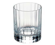 Luigi Bormioli 7540470 Bach-Caja de 6 Vasos Bajos Cristal, Transparente, 7,5 x 7,5 x 9 cm.
