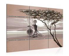 Bilder Afrika Frau Wandbild 000931b - Lienzo decorativo (120 x 80 cm, 3 piezas, tamaño XXL, fabricado en Alemania, listo para colgar), diseño de mujer africana