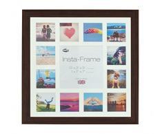 Inov8 16 x 40,64 cm Insta-Frame Austen Marco para Instagram 13/DE Estampado a Cuadros de Fotos con paspartú Blanco y Blanco con Borde, Roble