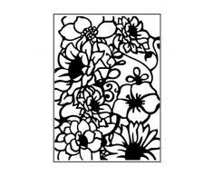 Carabelle Studio Embossing Folder Carpeta De Estampación, Plantilla Composición Floral, Flores, 10,8 x 14,6 x 0,11 cm