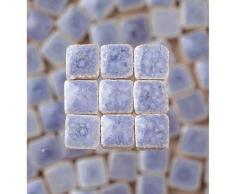 MosaicMicros 5 x 5 x 3 mm 10 g (Azulejos de Mosaico de cerámica esmaltado Mini, Luz Azul