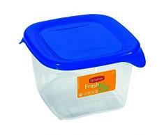 CURVER Papelera 00558-139-01 Cuadrada Recipiente hermético Fresh and Go, 0, 45L, translúcido/Azul