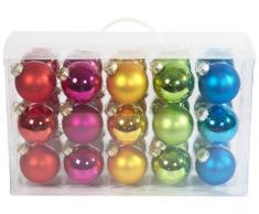 Brauns Heitmann 86736 - Juego de 30 bolas para árbol de navidad en maletín, 6 cm, ordenadas en mates y brillantes