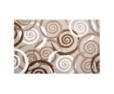 Alfombrilla LifeStyle 100352 Espirales, felpudo antideslizante y lavable, ideal para la entrada, el armario o la cocina, 50 x 75 cm, marrón / beis / blanco