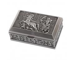 lachineuse Joyero Hecho de Metal - Bonita decoración egipcia