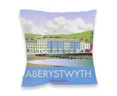 Dave Thompson Aberystwyth, Gales del Sur Impresión cojín, Multicolor