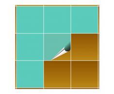 FoLIESEN Adhesivo para Azulejos para baño y Cocina–20x 20cm–Mint Brillante–20Adhesivos para Azulejos para Pared Azulejos