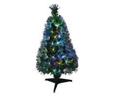 AUTOUR DE MINUIT 5SAF162MC - Árbol de Navidad (fibra óptica), diseño de Nueva York, plástico pvc, Multicolore (Multicolore 64mc), 120 cm