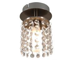 Naeve Leuchten 118050 - Lámpara de techo decorativa (diámetro de 10 cm, altura de 15 cm, metal y cristal)