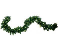 Best Season 612-21 Quebec - Guirnalda de luces para árbol de Navidad (25 x 500 cm, 80 ledes de luz blanca cálida, para exteriores), color verde