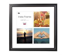 Inov8 16 x 40,64 cm Insta-Frame Marco para Instagram 4/de Estampado a Cuadros de Fotos con paspartú Blanco y Blanco con Borde, Negro 53