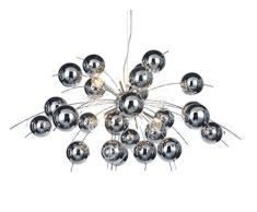 Naeve Leuchten Lámpara Colgante C,Explosion, cristal, 20 W, G4, 98 x 98 x 150 cm, cromo 7030942