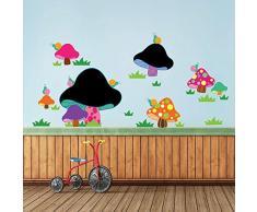 Walplus 160x75 cm pared pegatinas SETA Pizarra extraíble Autoadhesivo Arte Mural ADHESIVOS HOGAR BRICOLAJE Oficina Decor papel pintado Habitación De Bebé Infantil REGALO, Multicolor