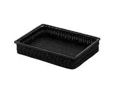 Saleen 02097119101 cesta Rectangular con estructura metálica 40 x 30 x 7 cm Negro