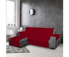 PETTI Artigiani Italiani, Funda Chaise Longue, Cubre Sofa Reversible, Protector para Sofás de Micrbibra, 100% Made in Italy,Burdeos, 2 Plazas (200-205), Microfibra