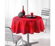 Lharmonie du décor - 1721367, Mantel Redondo, 180 Cm, Kosmo, Poliéster Estampado, Rojo