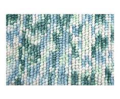 Spirella colección Kito, Alfombrilla de Ducha 60 x 90,80% Polyester, Microfibra, 20% Algodón,Multicolor, Azul (Ocean), 90 x 60 x 17,5 cm