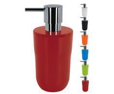 Spirella, Rojo colección Cocco, Dispensador de jabón líquido 7,5 x 7,5 x 16,5 cm, Poliestirol, 7.5 X 7.5 X 16.5 Cm