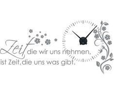 Graz Design - Reloj de pared con adhesivos decorativos, diseño de flores