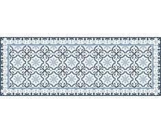 VINILIKO Victorian Blue Alfombra de Vinilo, Multicolor, 66x180