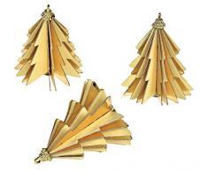 Comarco Sa 11406 - Árbol de Navidad Artificial, Papel, Dorado, 6 x 6 x 6 cm