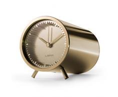 LEFF amsterdam LT70002 - Tube Clock - Latón - Design - Reloj de escritorio o estantería