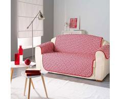 Douceur dIntérieur Protector de sofá Acolchado Microfibra Kiria Rojo 223 x 179 cm
