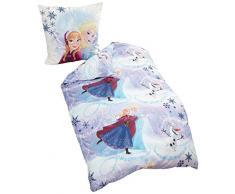 Herding 4480072050412 Frozen Disney Brave ropa de cama, funda de almohada, 80 x 80 cm y funda de edredón, 135 x 200 cm, diseño de