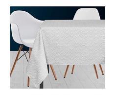 Soleil docre Paon - Mantel (poliéster, 140 x 300 cm), Color Blanco