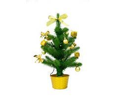 Best Season SA117, LED Árbol de Navidad con decoración, aprox. 45 cm, plástico, verde, 20 x 20 x 45 cm