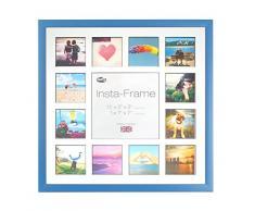 Inov8 16 x 40,64 cm Insta-Frame Marco para Instagram 13/de Estampado a Cuadros de Fotos con paspartú Blanco y Negro con Borde, Azul