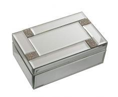 DRW Caja joyero Rectangular de Espejo 21x13x8,5cm