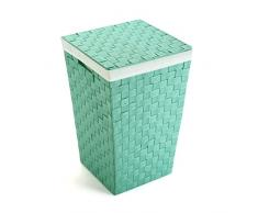 Versa 194853 Cesto ropa Verde 33.00x33.00x52.00 cm
