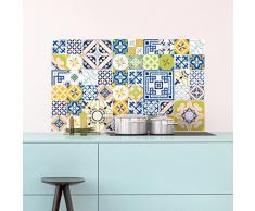 Ambiance-Live 60Pegatinas Adhesivos carrelages | Adhesivo Adhesivo Azulejos-Mosaico Azulejos de Pared de baño y Cocina | Azulejos Adhesiva-MULTICOULEUR-10x 10cm-60Piezas